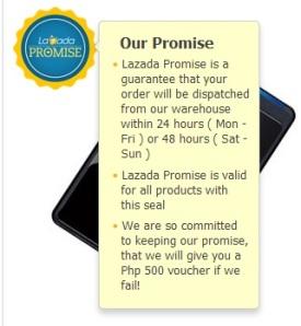 Lazada promise